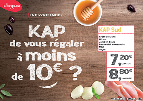 Le kiosque à pizzas de SAINT ROMAIN EN GAL - la pizza du mois