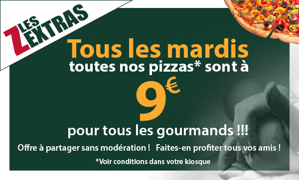 Le kiosque à pizzas de  SAINT JEAN DE BOURNAY - coupon promotionnel